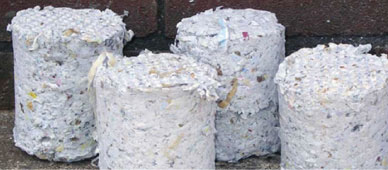Briquettes made of Papers / Currency
